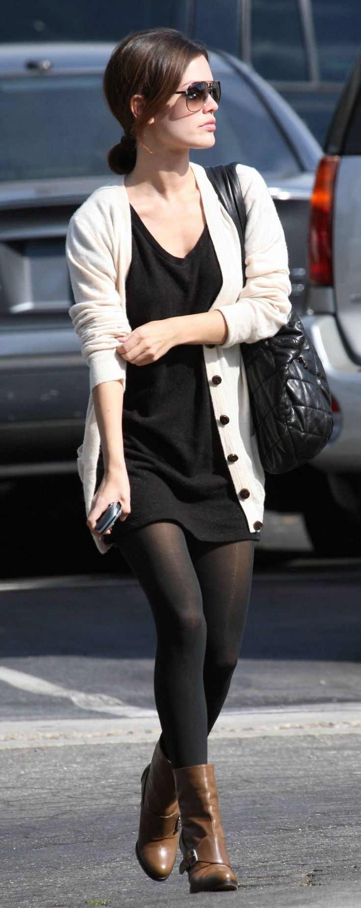 Outfits For Work Trend Outfits For Work Fashion Comfy Work Outfit Fashion Black Tights Outfit [ 1849 x 736 Pixel ]