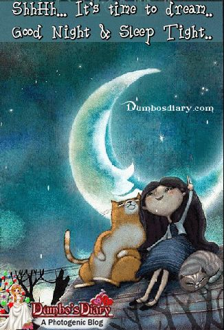 Download Some Cute Good Night Gifs or Animated Images for him or her with Love and Friendship quotes to Wish Sweet Dreams