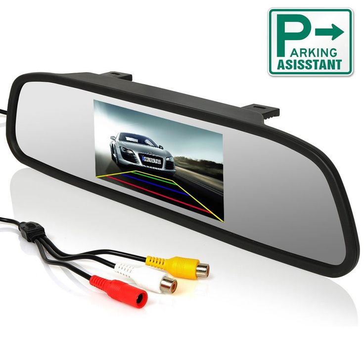 """ChiTronic 4.3"""" Screen Car Vehicle Rearview Mirror Monitor for DVD/VCR/Car Reverse Camera(DC 12V / PAL / NTSC / 2 Ways Video Inputs). 480x272 RGB high resolution, digital panel, compatible with camera/DVD/VCD player. 4.3-inch screen allows you to see clear real-time image in most circumstances. Easy to install and operate, exclusive bracket for most models with high quality and low price. Automatic system switch-on prevents the driver from being distracted when he needs to back up. Used as..."""