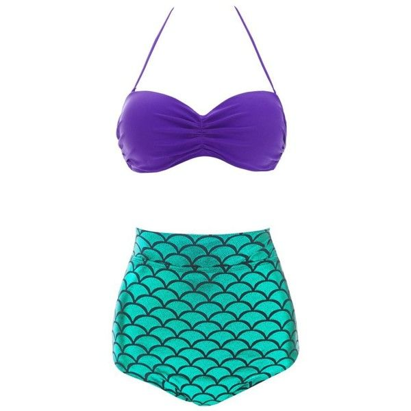 Dasbayla Women 2 Piece Swimsuit Glitter Mermaid Plus Size Holographic... (£11) ❤ liked on Polyvore featuring swimwear, bikinis, swim suits, plus size swimsuits, swimsuits two piece, 2 piece swimsuits and plus size 2 piece bathing suits