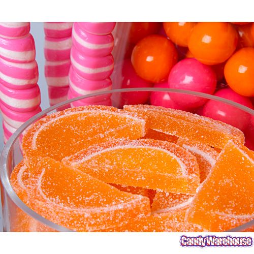Pink Swan Events - Pink and Orange Candy Bar (www.PinkSwanEvents.com)