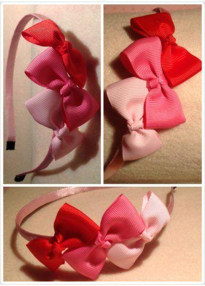 Ribbon Triple-Bow Headband