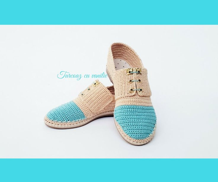 Oxford Crochet Shoes for the Street, Casual HandMade Crochet Shoes for Women and Teen Girls, Handmade shoes for spring and summer by TurcoazCuVanilie on Etsy
