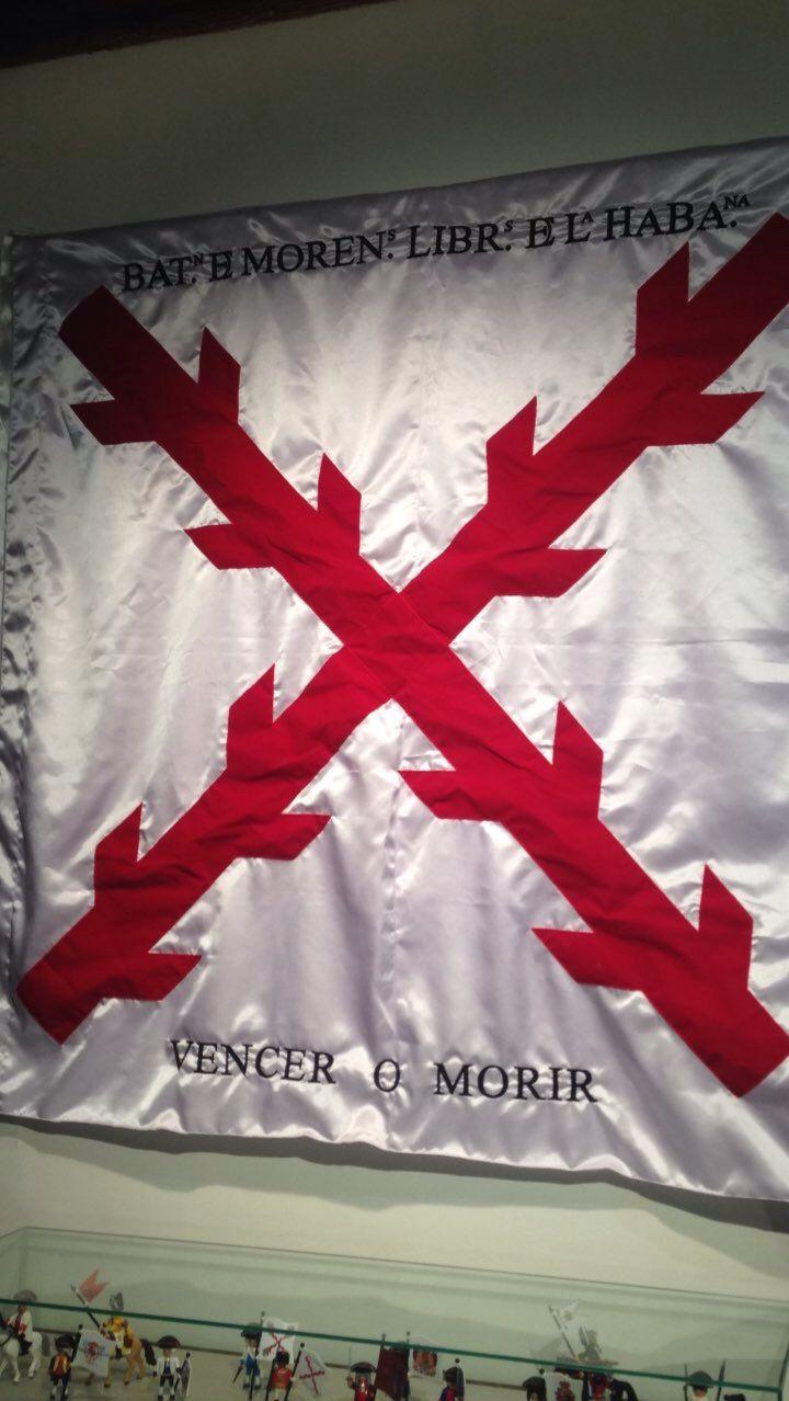 Aspa de Borgoña, Cruz de San Andrés. Gloriosa bandera de España y de los Tercios de Flandes.