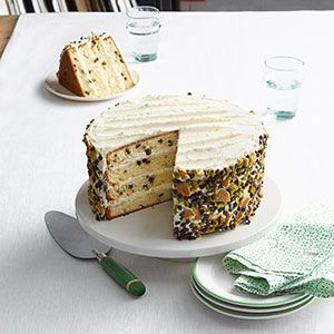 This four-layer cake is a unique twist on the Italian favorite but still has that traditional cannoli flavor.