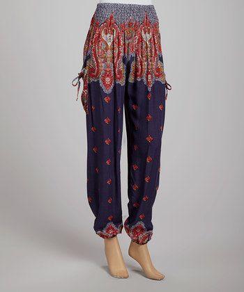 my boho heart loves these paisley harem pants.