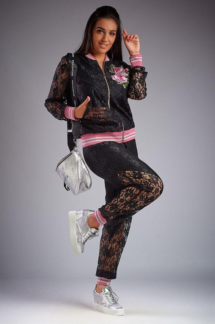 c1b9af77564d99d Женский летний костюм Likara большого размера / гипюр / Украина 32-706: купить  оптом и в розницу от производителя, костюмы женские - интернет-магазин