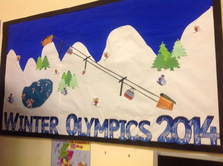 Classroom Olympics Ideas ~ Classroom display for winter olympics activities ideas