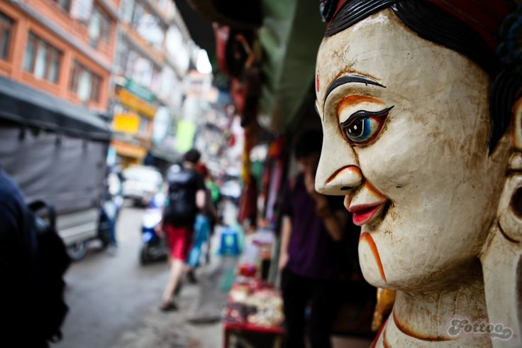 Thamel - the tourist place in Katmandu, Nepal.
