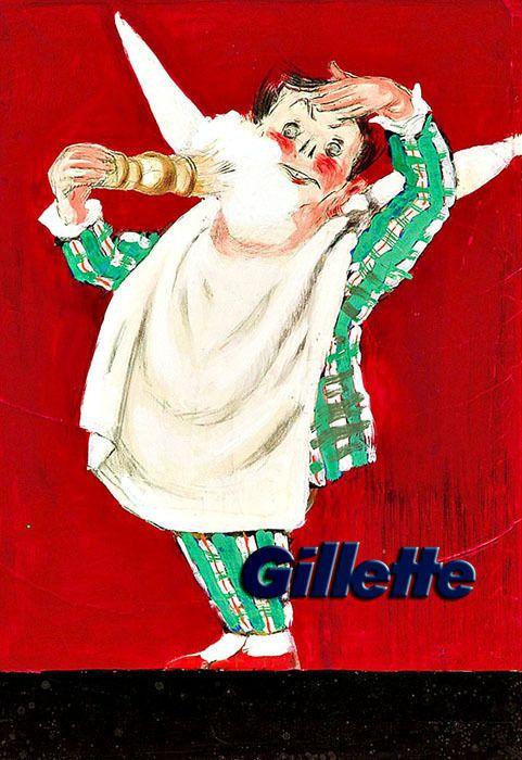 Art Gillette Shaving cream Bathroom Deco Poster Print