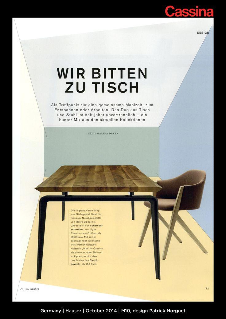 Germany | Hauser | October 2014 | M10, design Patrick Norguet | Discover more on:http://cassina.com/it/collezione/sedie-e-poltroncine/397-m10