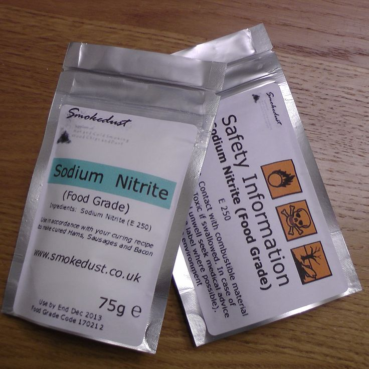 Sodium Nitrite (Food Grade) 75g, Smokedust