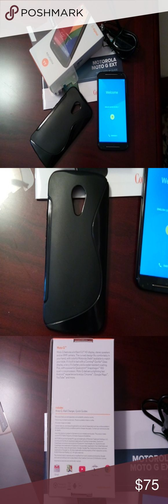 Motorola Moto G EXT 2nd Generation 8G This phone was used with Consumer Cellular, I did call and get the unlock code from them, and it has been UNLOCKED.  It has been reset to factory settings.  It is in great shape, I will include a case, a new screen saver, and of course cord and booklet.  Any questions please feel free to ask. Motorola Accessories Phone Cases