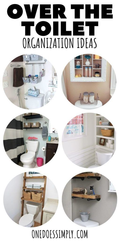 Check out these awesome bathroom organization ideas using the space above the to   – Bathroom Organization