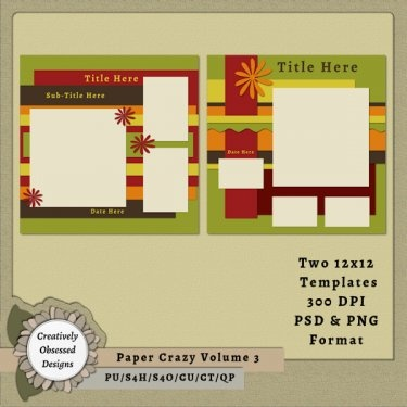 79 best 12x12 digital scrapbook templates images on pinterest paper crazy volume 3 12x12 pronofoot35fo Gallery