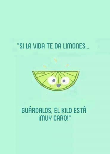 Joke in Spanish - kids would need to know the original idiom to understand this joke (si la vida te da limones, haz limonada). #learning #spanish #kids