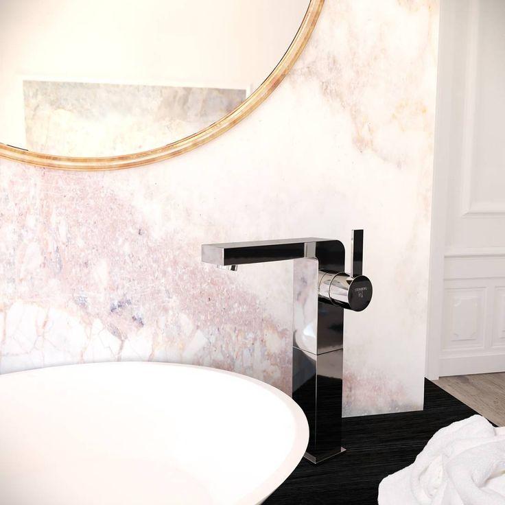 Steinberg Armaturen Trendfarbe Rosa Kombiniert Mit Klaren Formen