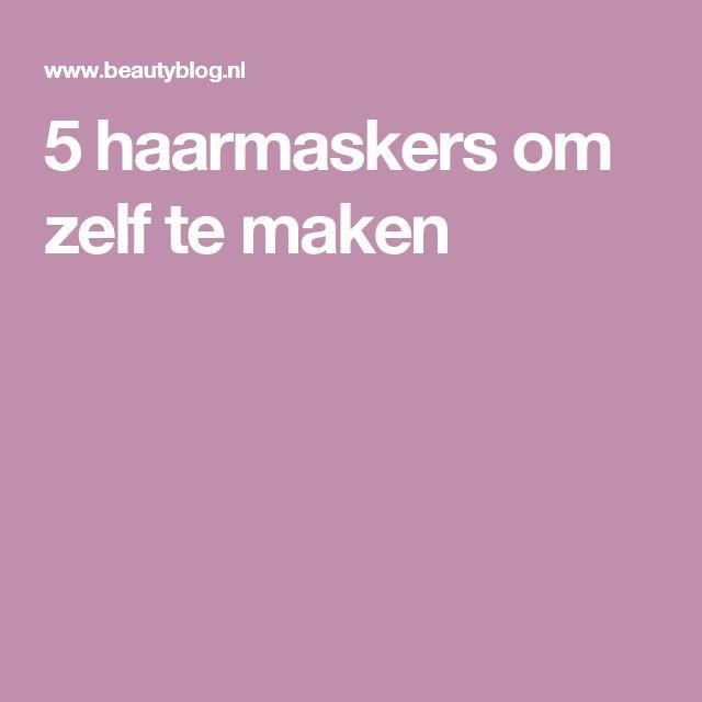 5 haarmaskers om zelf te maken