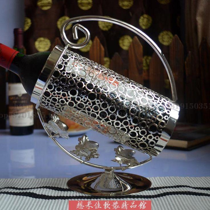 Мода искусства дизайн посеребренная мода старший мода theroom кованого железа винный шкаф украшения с бесплатная доставка