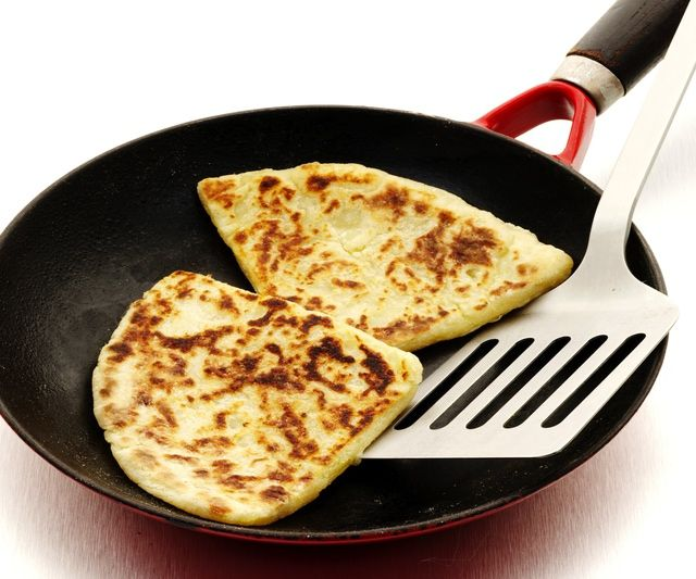 Traditional Scottish Tattie Scones Recipe. I made them without the egg, and used gluten free bisquick