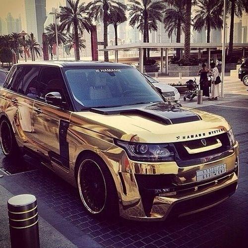 Golden range rover sport! The best family suv...