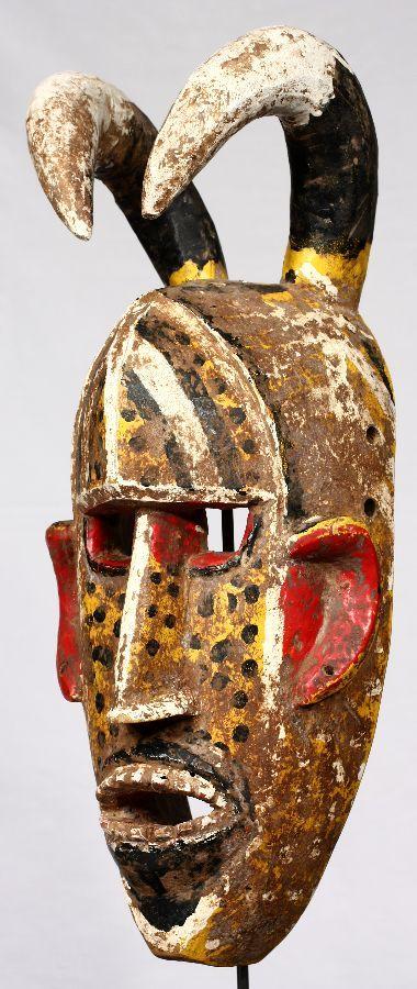Máscara Bozo de de 45 cm de altura. Originaria de Malí.