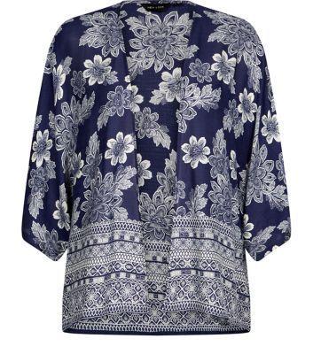 #Indigo #Denim #FloralPrints #Shrug #AOP #DyePrints