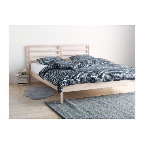 TARVA Bed frame IKEA Made of solid wood, which is a durable and warm natural material.