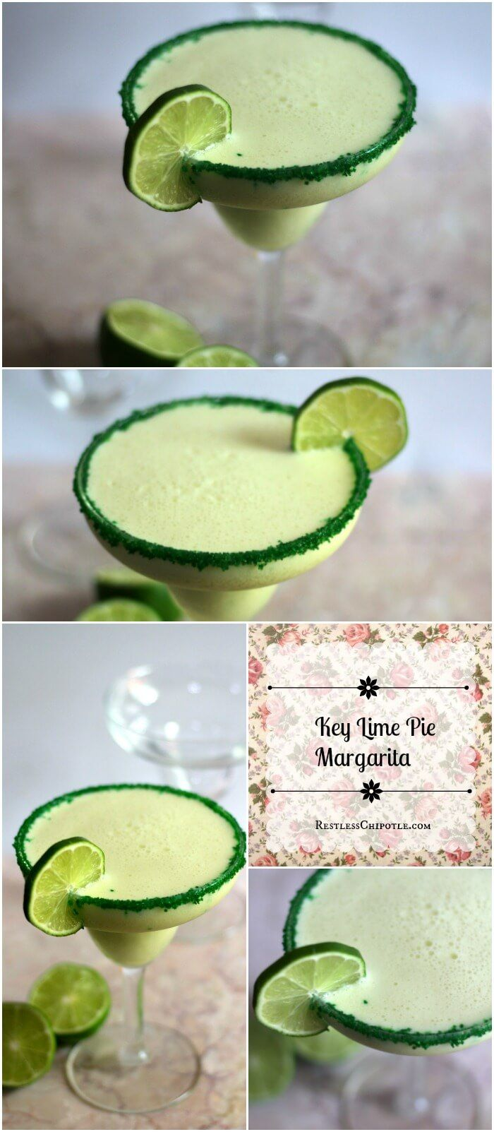 Key Lime Pie Margarita? Perfect cocktail for summer parties! From RestlessChipotle.com