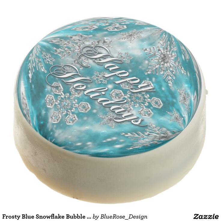 Frosty Blue Snowflake Bubble Holiday Oreo Cookies Chocolate Covered Oreo