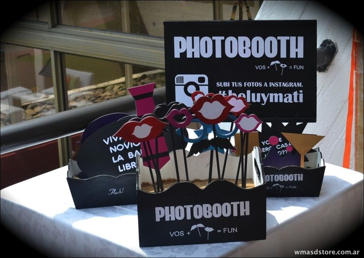 Props Accesorios Madera Photobooth Boda Casamiento 15 Años - $ 425,00 en MercadoLibre