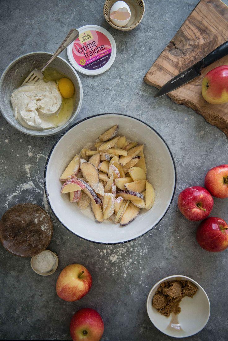 Custardy Crème Fraîche Apple Pie #keepitfraiche