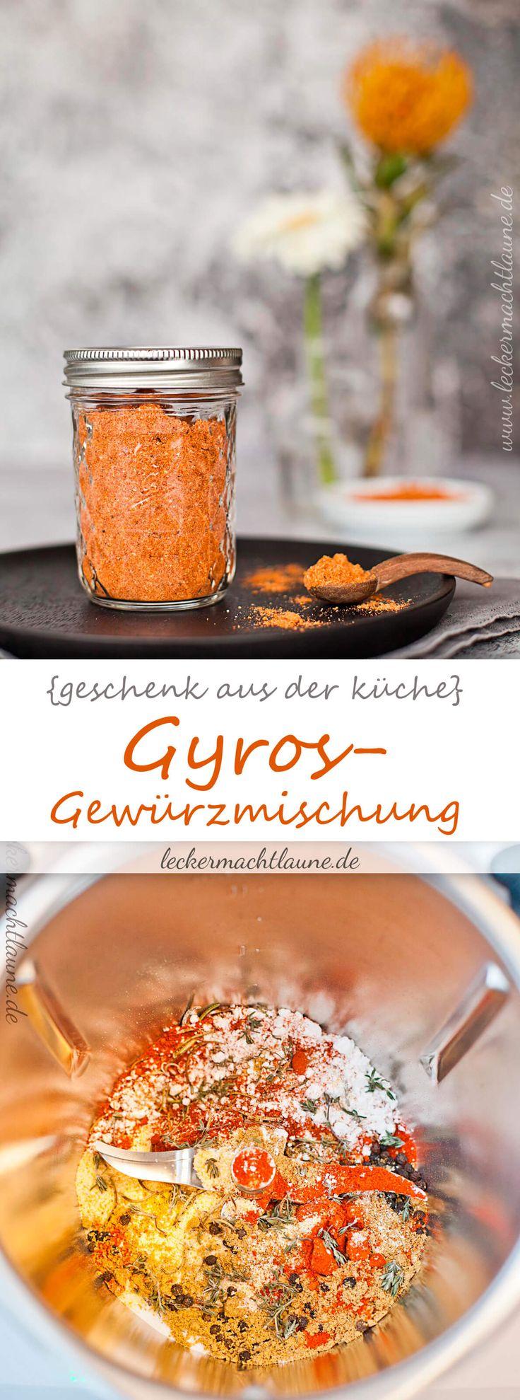 Ein ganz wunderbares kleines Geschenk aus der Küche: Gyros-Gewürzmischung . Da es schnell gemacht ist, ist es auch als Last Minute Geschenk geeignet.