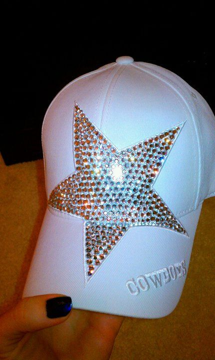 Dallas Cowboys Swarovski Hat by SassySportswear on Etsy, $110.00