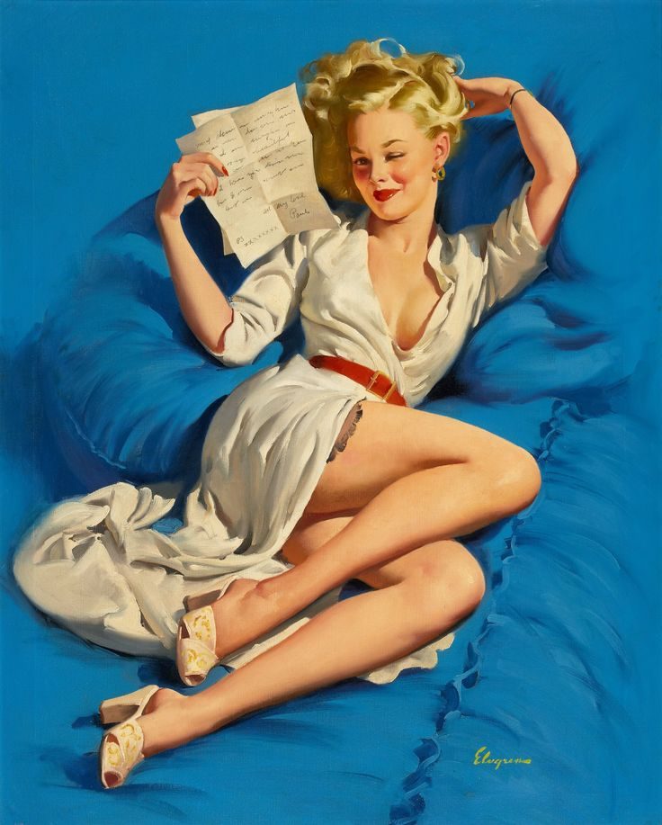 GIL ELVGREN (American, 1914-1980). He Thinks I'm Too Good to | Lot #87152 | Heritage Auctions