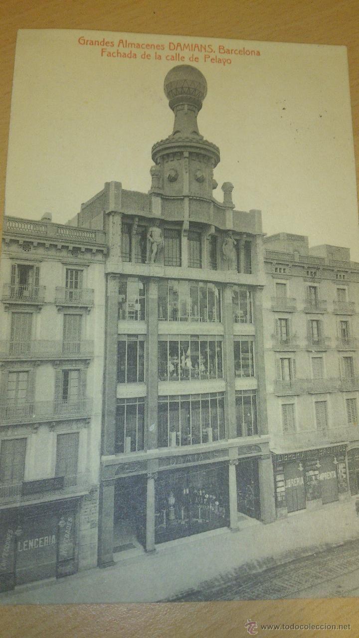 Magatzems Damians al carrer Pelai, Barcelona, 1916.