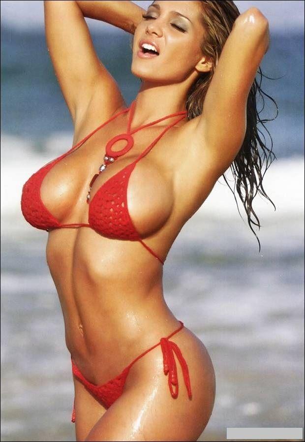 Theresa Correa Sexy In Red Bikini  Summer  Pinterest -6286