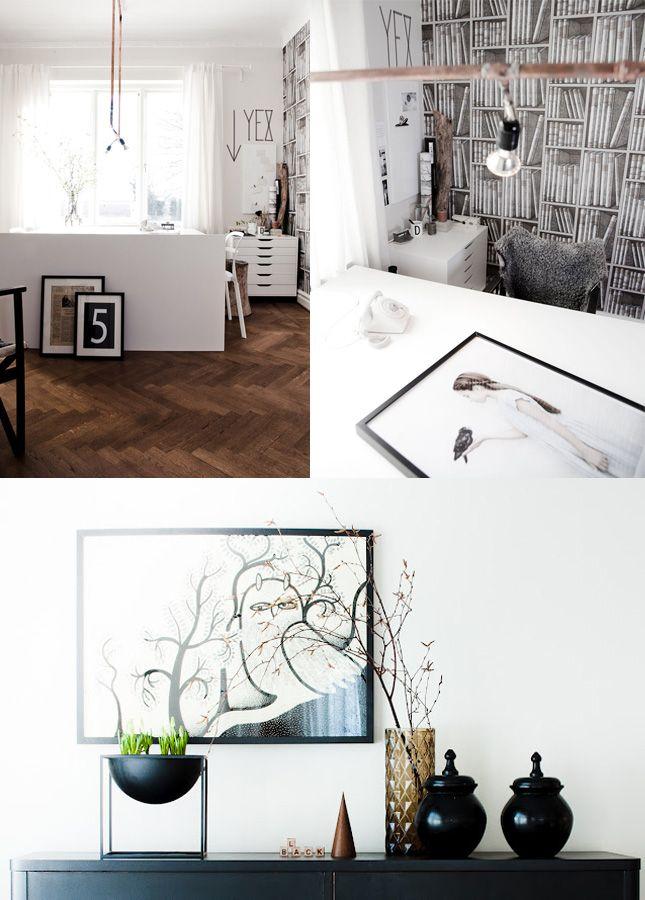 scandinavianInteriors Image, Interiors Blog, Bookshelf Wallpapers, Stylists Daniella, Favorite Places, Daniella Witte, Beautiful Interiors, Happy Interiors, Inspiration Interiors