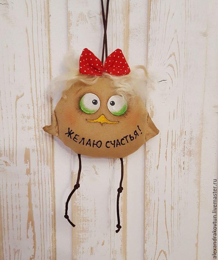 Купить Подарок на Новый Год Птенчики кофейные - игрушка ручной работы, сувениры и подарки