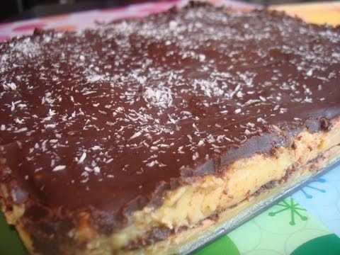 TARTA DE GALLETAS, NATILLAS, CHOCOLATE Y COCO SIN LACTOSA