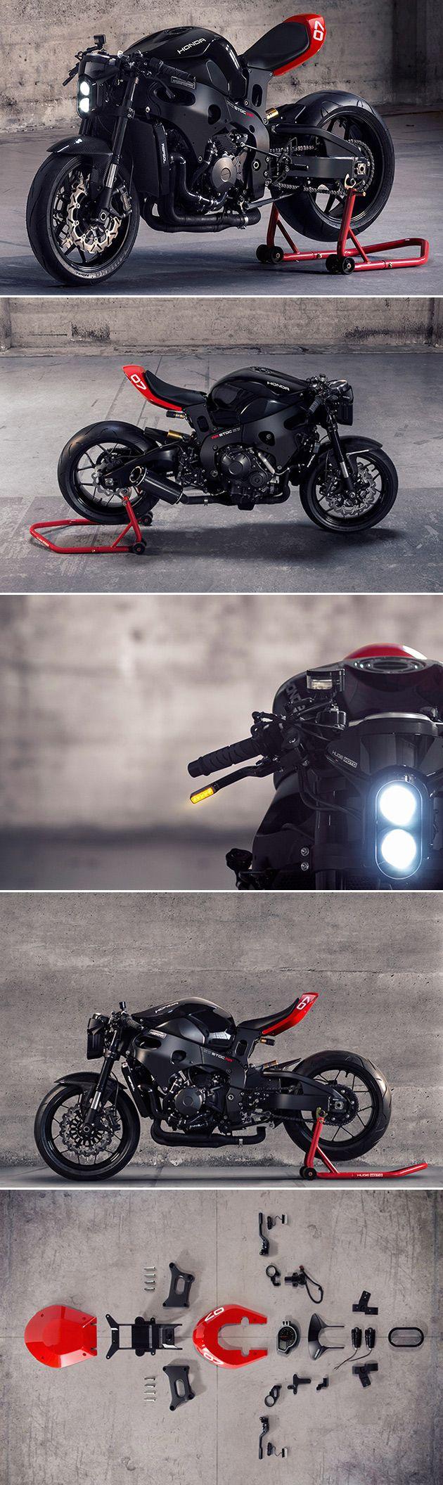 Huge MOTO Honda CBR1000RR Black Looks Like a Stealth Fighter, is a Bolt-On Kit