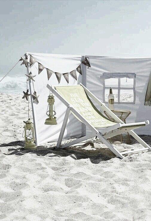 #Happy beach days #Beachwood deck chairs #Beachwood buntings