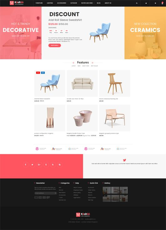 Venus proudly introduce Kasitoo, a new free magento 2 theme for online for fashion, Shoes, Glasses, Equipment and so on