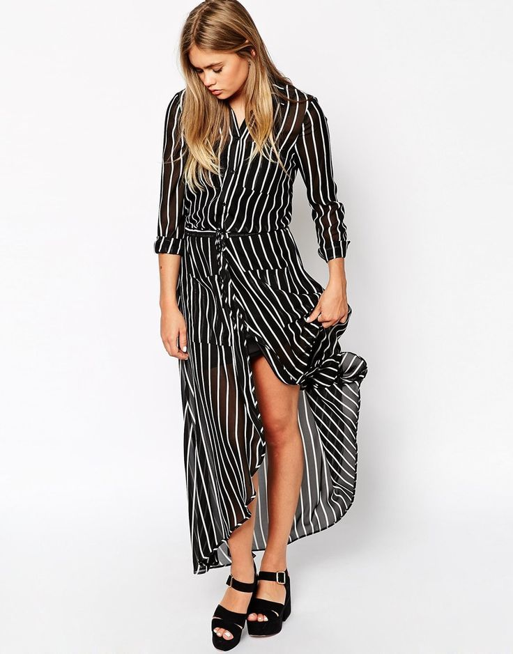 Shirt Stripe Maxi Dress – #dress #maxi #shirt #stripe