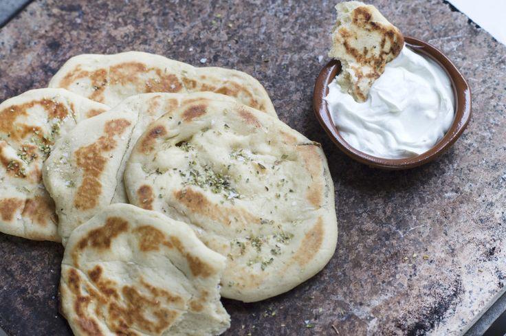 Pitabröd på Grekisk yoghurt