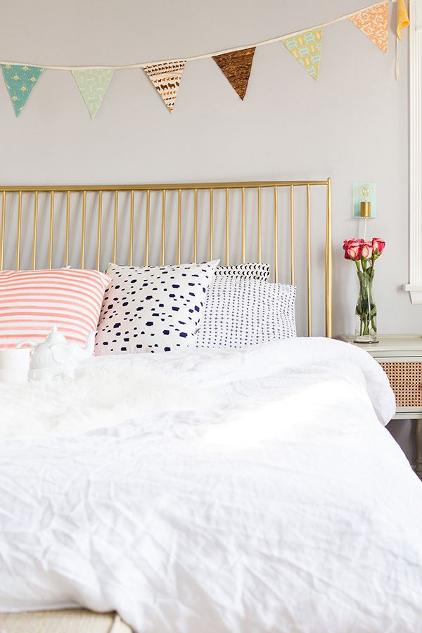 Favorite Cozy Bedroom Oasis (Love that Leesa gives one mattress to a homeless shelter for every 10 they sell. And yes, the mattress is delivered to your doorstep rolled up in a box!)