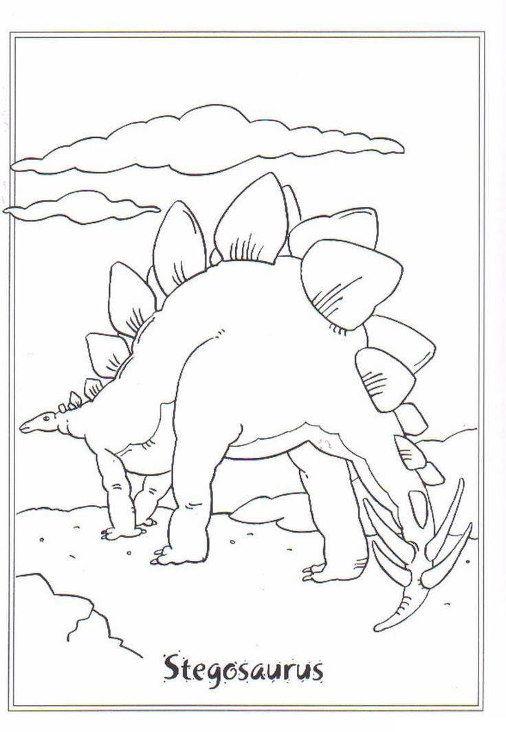 Kids-n-fun | Ausmalbild Dinosaurier 2 stegosaurus