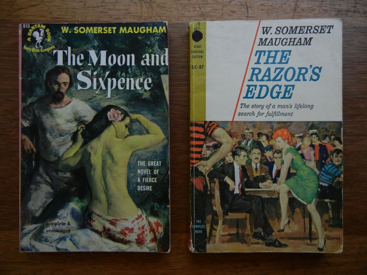 W. Sommerset Maugam ~ The Moon and Sixpence and The Razor's Edge paperback books by ThomasCollectibles on Etsy