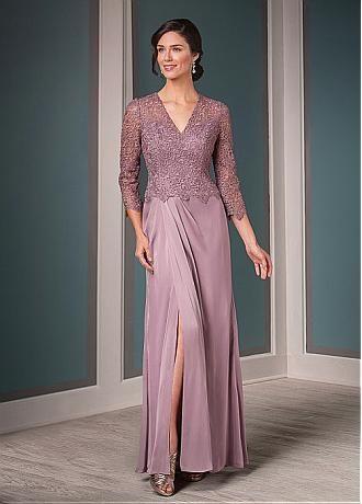 Buy discount Marvelous Lace & Satin Chiffon V-neck Neckline Sheath Mother of the Bride Dresses at Dressilyme.com