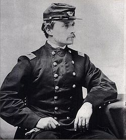 Col. Robert Gould Shaw, related to him through his 6th great grandparents Samuel Morse and Elizabeth Jasper. Samuel and Elizabeth  were my 10th great grandparents.